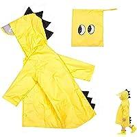 gotyou Kids Raincoat,Dinosaur Raincoat Bambini Impermeabile Pioggia Poncho Cute Unisex, Poncho Impermeabile per Bambino…