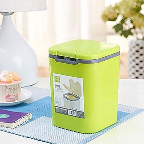 Trash Office Desktop creativa mano di modo - pressato aprire il coperchio Mini - Barrels Tabella detriti bidoni della spazzatura (più colori disponibili) ( colore : A