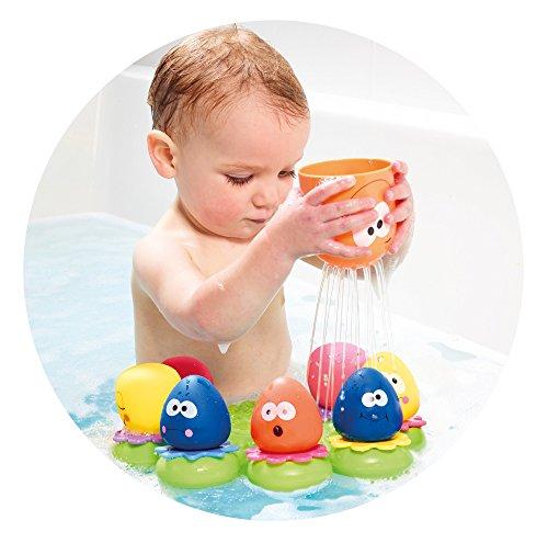 """TOMY Wasserspiel für Kinder """"Okto Plantschis"""" mehrfarbig – hochwertiges Kleinkindspielzeug – Spielzeug für die Badewanne – ab 12 Monate - 4"""