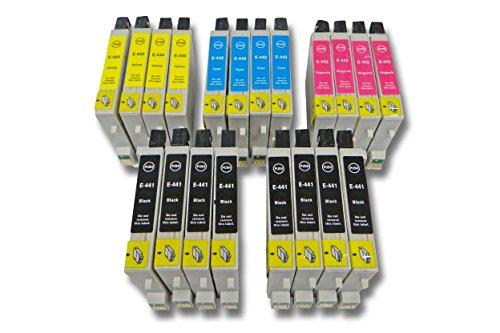20 x vhbw Druckerpatronen Tintenpatronen Set für Epson Stylus C64, C66, C84, C86, CX3600, CX3650.