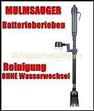 BATTERIEBETRIEBENER Mulmsauger Schlammsauger Aquarium Filter Bodenreiniger