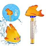 VEGKEY Schwimmende Pool Thermometer, Baby-Pool Thermometer Wasser Temperatur Thermometer mit Karikatur Floating Pool Thermometer für Outdoor & Indoor Pools, Aquarien,Spas,Fischteiche