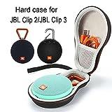 Estuche rígido Que transporta la Bolsa de Almacenamiento para JBL Clip 2 Altavoz portátil inalámbrico Bluetooth. Se Adapta al Cable USB - Negro