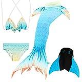 Das beste Mädchen Bikini Badeanzüge Schönere Meerjungfrauenschwanz Zum Schwimmen mit Meerjungfrau Flosse Schwimmen Kostüm Schwanzflosse - Ein Mädchentraum- Gr. 120, Farbe: A10(2)
