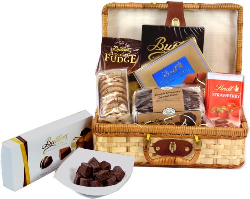 Heavenly Chocolate Hamper in Bamboo Suitcase