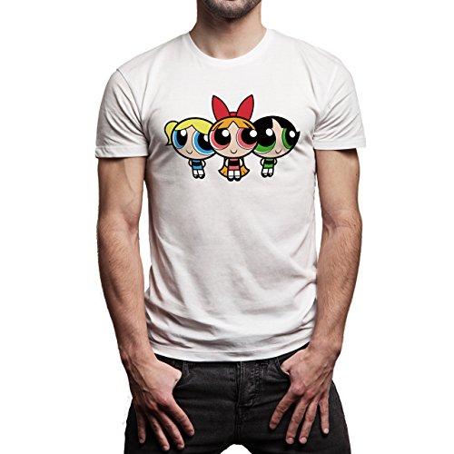 Powerpuff-Girls-Tripple-Layer-1.jpg Herren T-Shirt Weiß