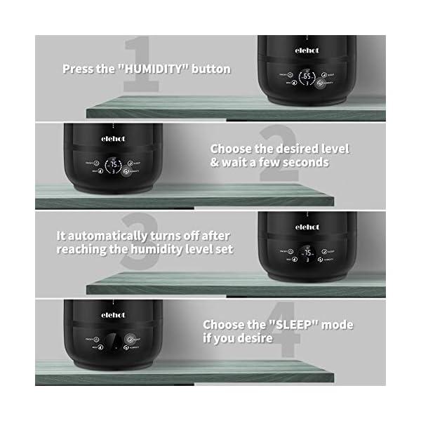 Umidificatore-Ambienti-ad-Ultrasuoni-Capacit-5L-Display-LED-Vaporizzazione-e-Umidit-Regolabili-Modalit-Silenziosa-e-Vano-per-Aromi-di-ELEHOT-Nero