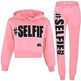 A2Z 4 Kids® Bambini Ragazze Ragazzi Tuta Progettista #Selfie Stampare - T.S Crop #Selfie Baby Pink 11-12