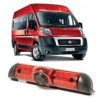 Dynavsal Rückfahrsystem mit Rückfahrkamera im 3. Bremslicht Bremsleuchte passend für FIAT Ducato X250/ Boxter III AVIS AVS325CPR / Jumper/Dodge /Kastenwagen Einparkhilfe/Wohnmobil/Transporter