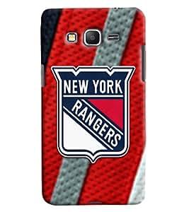 Blue Throat New York Rangers Printed Designer Back Cover/ Case For Samsung Galaxy Grand Prime