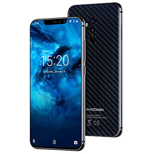 "UMIDIGI Z2 Pro, Smartphone da 6.2"", 6GB+128GB, Helio P60 Octa-Core, Quad Camera 16MP+8MP, Batteria 3550mAh, NFC, Android 8.1, Global Bands Dual SIM Cellulare, Caricatore Wireless da 15W - Carbon Fiber"