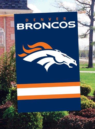 Offizielles National Football League Fan Shop authentische NFL Man Cave Flagge-Banner. Übergroße 111,8x 71,1cm Flagge für drinnen/draußen All Season schwere Nylon mit Stickerei, Denver Broncos