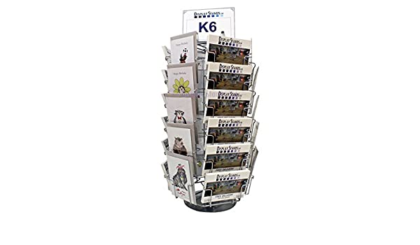 """10 Pocket 6/"""" x 4/"""" Wall Post Cards Display Rack White"""