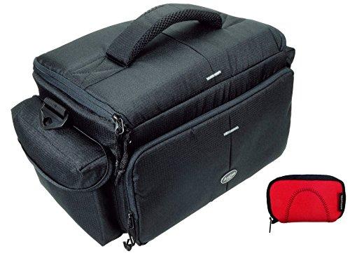 Professionelle Foto-Tasche für die große Ausrüstung Typ ACTION black für 2 Gehäuse und Zubehör im Set Neoprentasche