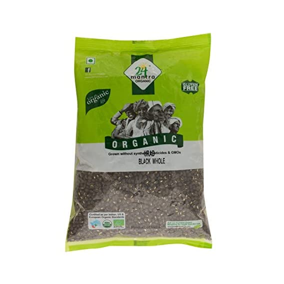 24 Mantra Organic Black Urad Whole, 500g