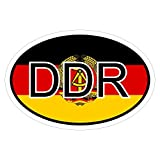 DDR in zwei Größen mehrfarbig Autoaufkleber Aufkleber KFZ Flagge
