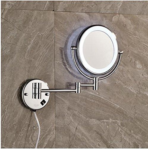 Gowe Chrom Finish Wand montiert Dual Arm Extend 2-Face Badezimmer Make up Spiegel mit Ausgestattet