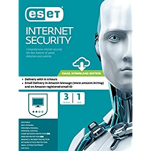 ESET Internet Security – 3 Devices, 1 Year (Email Delivery in 2 Hours- No CD)