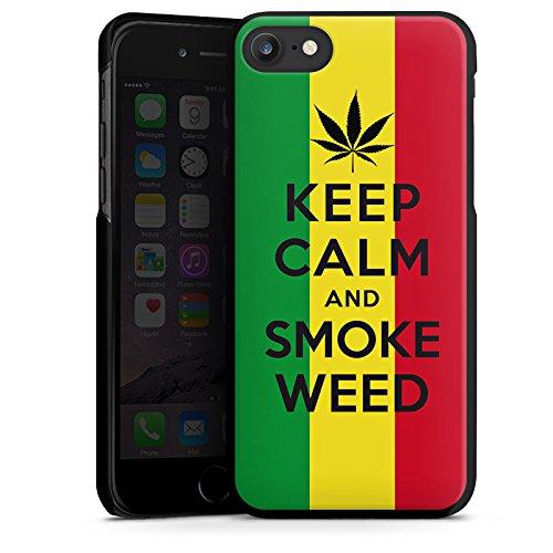 Apple iPhone X Silikon Hülle Case Schutzhülle Keep calm and smoke weed Sprüche Statement Hard Case schwarz