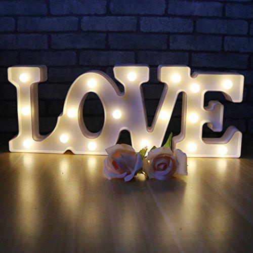 Romantische Festzelt Sign Light - Ich liebe U Night Lights Room Decor Valentinstag Motif Lampen Wandleuchten Batterie & USB betriebene Nachttisch und Tischlampen