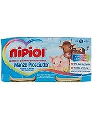 Nipiol Alimento per l'Infanzia con Manzo e Prosciutto - 160 gr