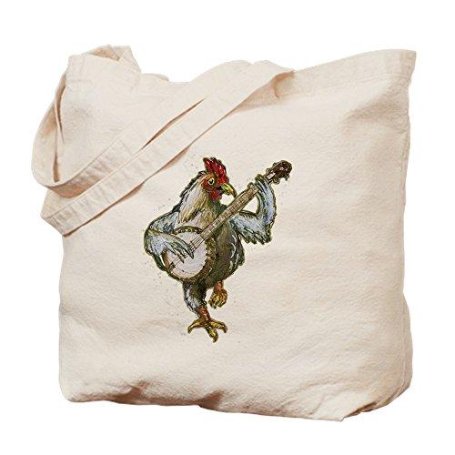 CafePress–Banjo Huhn–Leinwand Natur Tasche, Reinigungstuch Einkaufstasche, canvas, khaki, S