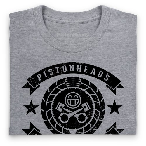 PistonHeads Fifteen Years Strong T-Shirt, Herren Grau Meliert