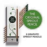 Sprout Lot de 8 crayons à papier | en bois naturel bio non traité et mines sans plomb | crayons graphite pour plantes