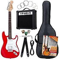 Rocktile Banger's Power Pack SET chitarra elettrica rossa, 8 pezzi