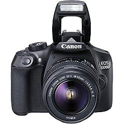 Canon Appareil photo numérique EOS 1300D KIT (18-55 IS II), Noir