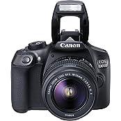 Canon EOS 1300D schwarz mit Objektiv EF-S 18-55mm 3.5-5.6 IS II (1160C026)