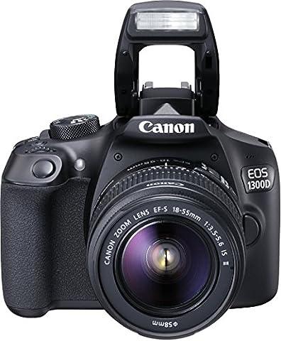 Canon EOS 1300D Digitale Spiegelreflexkamera (18 Megapixel, APS-C CMOS-Sensor, WLAN mit NFC, Full-HD) Kit inkl. EF-S 18-55mm IS 2 Objektiv schwarz - Body Kit Prezzo