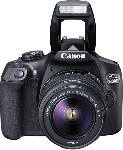 Canon EOS 1300D + EF-S 18-55 IS II - Cámara digital (18 MP, CMOS 5184 x 3456 pixeles), negro