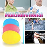 Mture Handtrainer Ball Egg Oval Fingertrainer Therapiebälle für die Hand, Hand Training, Finger Trainer für Fingerkraft Unterarmtraining -Set mit 3 Resistenz-Stufen - 3