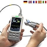 MedX5 2,8' TFT Farbdisplay, Pulsoximeter für die Langzeitmessung mit Sensor, Fingerpulsoximeter, Oximeter, zertifiziertes Medizinprodukt