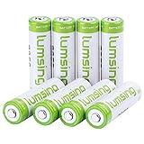 Lumsing 8 Pack AA Akku 2850mAh Ni-MH Wiederaufladbare Batterien Mit Batterie Speichern Box
