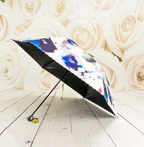 Automatische Inkjet (HNback Umbrellas Regenschirm, Regenschirm, Regenschirm, Dreifacher Regenschirm, Winddichter Verstärkungsrahmen, Vinyl-Inkjet-Regenschirm, Farbautomatik-Regenschirm HNBY)