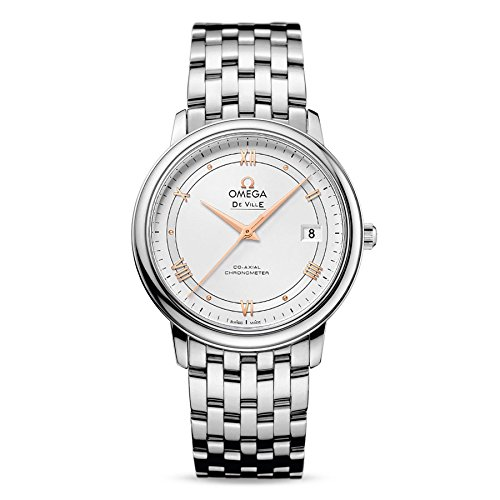 OMEGA MEN'S DE VILLE 36.8MM STEEL BRACELET AUTOMATIC WATCH 424.10.37.20.02.002