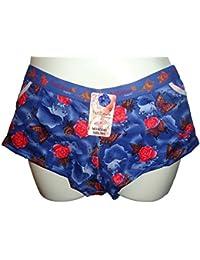 Shorty / Boxer / Culotte Femme Petillance avec motifs fleurs & papillons (B5040)