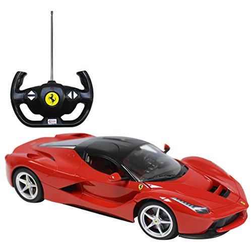 Charles Bentley Officiel sous Licence Ferrari 1/14 Échelle Radio Télécommande Voiture Jouet en Rouge Modèle Détailler