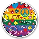 2x Peace Love Vinyl Aufkleber Aufkleber Laptop Reise Gepäck Auto Ipad Schild Fun # 5353 - 20cm/200mm Wide