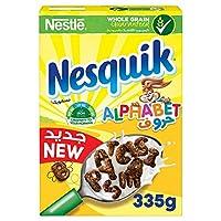 حبوب الافطار بالشوكولاته بشكل احرف ابجدية من نستله نسكويك، 335 غرام