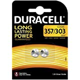 Duracell Specialty 357/303 Silver Oxide Battery 1.5 V (SR44/V357/V303/SR44W/SR44SW) Designed for Use in Watch, Calculators and Medical Devices, Pack of 2