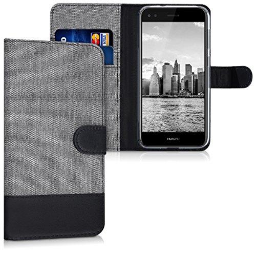kwmobile Huawei Y6 Pro (2017) / Enjoy 7 Hülle - Kunstleder Wallet Case für Huawei Y6 Pro (2017) / Enjoy 7 mit Kartenfächern und Stand