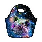 nopersonality Galaxy Animal Muster Kids Lunch Bag Box Tote Kühler Tasche Wiederverwendbar, Polyester, Galaxy Animal-7, M