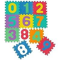 LittleTom Soft Baby Play Mat Children Foam Puzzle 10 Large Floor Tiles Numbers