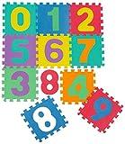 LittleTom Puzzlematte Kinder Spielteppich Zahlen Spielmatte EVA Schaumstoff Puzzle Bodenmatte Kinderteppich Bunt
