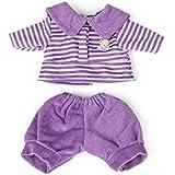 Miniland - Conjunto polo y pantalón, 21 cm, color violeta (31695)