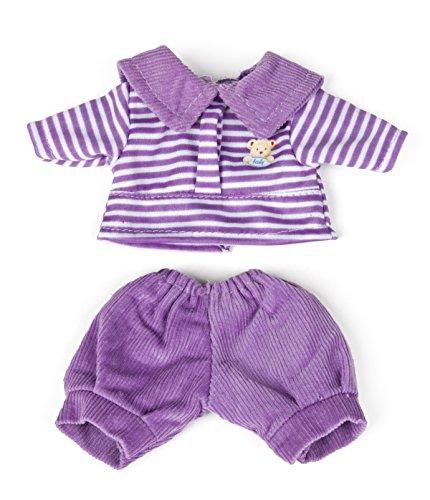Miniland 31695 - Violettes Kostüm mit Hose + Poloshirt 21 cm (Kostüm Mit Hose)