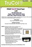 10 Blatt Inkjet Decal Papier Transfer Folie Din A4 Weiss für Tintenstrahldrucker für Papier/Leder / Kunststoff/Kerze / Holz/Glas / Metall/Keramik / Stoff - (Trocken-Transfer)